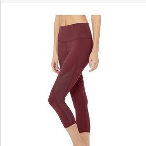 Alo Coast BRAND New XS black Cherry leggings. NWT
